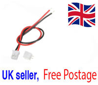 Mini Micro JST 2.0 PH 2 Pin Connector Plug, 120mm Cable & Socket UK Seller