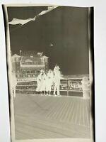 1920s photo Negative, Garden Pier Theatre w. Ads & Plane, Vintage New Jersey