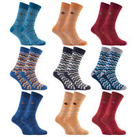 Farah 2 Pairs Mens Thick Cotton Chunky Cable Knit Winter Warm Dress Boot Socks