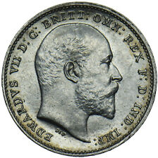 More details for 1902 threepence - edward vii british silver coin - superb