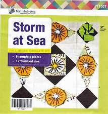"Matildas Own Storm at Sea Patchwork Template Set 12"" Finished Size"