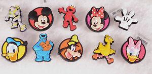 Authentic JIBBITZ Mickey Minnie Buzz Donald Daisy Goofy Elmo Cookie Bird Shoe Ch