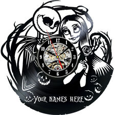 Personalised The Nightmare Before Christmas Vinyl Wall Clock Decor