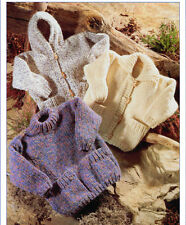 baby / child chunky jackets knitting pattern 99p