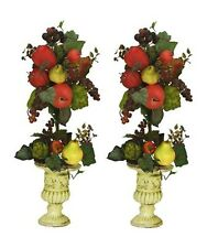 """TWO 27"""" Artificial Mixed Fruit Topiary Pre-potted"""