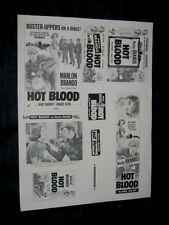 Original 1953 HOT BLOOD Pre WILD ONE Title Ad Slick + Photo MARLON BRANDO