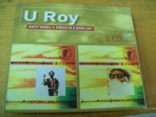 U ROY NATTY REBEL & DREAD IN BABYLON DOPPIO CD VIRGIN  REGGAE RARO