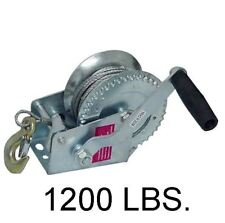 1200 LB Hand Crank Steel Wire Rope Winch for Boat or Pulling