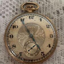 Vintage 1922 Elgin 12s 17J Pocket Watch Model 3 Grade 384