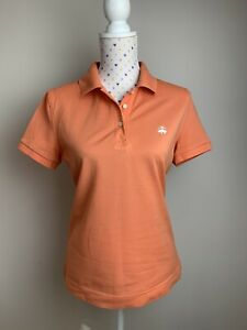 BROOKS BROTHERS Size L Womens Polo Shirt Tee T-shirt Orange Casual Preppy Sport