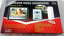"""Quick Set Up NEW VIDEO DOOR INTERCOM / PHONE SYSTEM 7"""" Color Screen  RL-037BD-1"""
