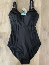 Papaya Ladies Black Swimsuit With Gold Detailing Size 12 BNWT