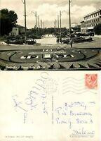 Cartolina di Senigallia, giardini - Ancona, 1955