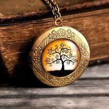 Tree of life photo locket, picture photo locket, photo locket necklace