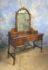 Antique Mahogany Vanity with Mirror Rockford Cabinet Co