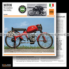 #093.19 MOTOM 50 COMPETITION / PETER INCHLEY 1959 Fiche Moto Motorcycle Card