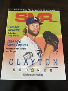 SMR Official PSA Certified Price Guide - January 2021 Clayton Kershaw