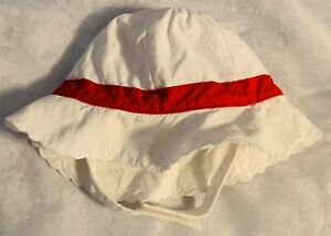 Janie and Jack 0-3 Months Red Bow White Sun Hat FREE SHIPPING