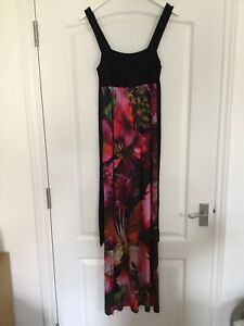 Monsoon Ladies Floral Maxi  With Tie Size 8