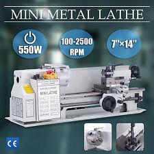 """7""""x14"""" 550W Metal Mini Lathe Metalworking Woodworking Power Tool Turning Machine"""