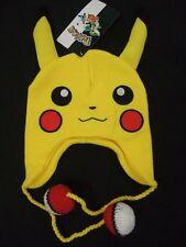 Pokemon GO Anime Pikachu Face Ears Pokeball Laplander Beanie Hat Nintendo Game