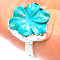 Arizona Turquoise 925 Sterling Silver Ring Size 9 Ana Co Jewelry R54811