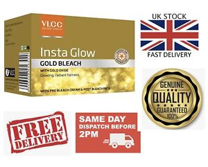 UK 30g VLCC Gold Bleach Kit with Gold Oxide For Glowing Radiant Fairness