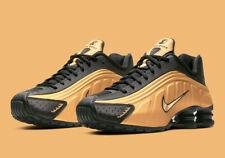 Nike Shox R4 Shoes Black Metallic Gold 104265-702 Men's Multi Size NEW