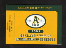 Oakland Athletics--2005 Spring Training Pocket Schedule--Southwest Air