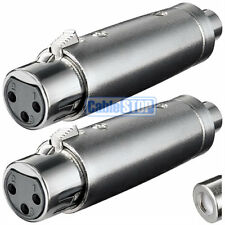 Pack of 2 - XLR 3 Pin Female Socket to RCA Phono Socket Connector Audio Adapter