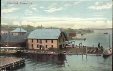 Eastport ME Union Dock c1910 Postcard