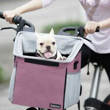 Pet Carrier/Bicycle Basket/Bag Pet Carrier/Booster/Backpack *PINK*