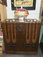 Antique c1940 5 Cent Mills Novelty 4 Bells 4-Player Console Casino Slot Machine