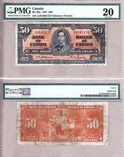 1937 $50 KGVI Bank of Canada; Scarcer OSBORNE & Towers BC-26a.  PMG VF205