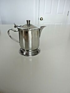 ion general 18-8 Stainless Steel Cream Pitcher with Hinged Lid  # 4014 Japan