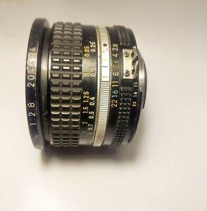 NIKON Ai/AIS NIKKOR 20mm f/2.8 Ultra Wide SLR Lens dslr Sony A7 Nex Nikon Fuji