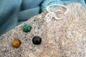 6.85CT - ARTISAN INTERCHANGEABLE MULTI-GEMSTONE RING - PURE 925 STERLING SILVER