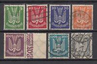 Germany, Deutsches Reich 1924,  Mi.344-350, used