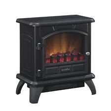 Duraflame Electric Stove Heater 1000sf 4600btu Black Metal Thermostat Glow Logs