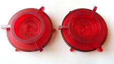 PAIR PLASTIC SKELETON RED NAB HUB ADAPTERs 10.5'' REEL TO REEL TAPE RECORDERs