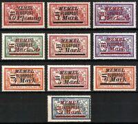 DR Memel Nazi Rare WWI Stamp 1922 Overprint FLUGPOST Air Mail Service Full Set