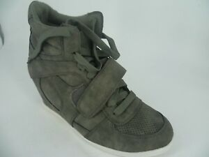 Ladies Hidden Wedge Lace Up Boots Grey UK 4 EU 37 LN089 AM 02