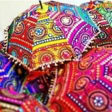 10 PCs Decorative Rajasthani Hand Embroidered Parasol Vintage Sun Shade Umbrella