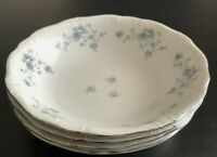 "Set 4 Johann Haviland Blue Garland 7 5/8"" Coupe Soup Bowl Bavaria Germany UNUSED"