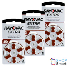 RAYOVAC EXTRA ADVANCED SIZE 312 MF PR41 HEARING AID BATTERIES 1.45V ZINC AIR