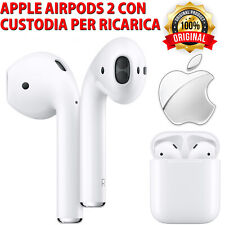 CUFFIE WIRELESS BLUETOOTH APPLE AIRPODS 2.ª GENERAZIONE CON CUSTODIA DI RICARICA