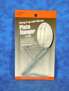 "PLATE HANGER Wire Silver Large Fits 7"" to 11"" Plates (New Sealed)"