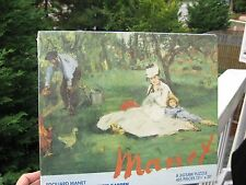 """Vintage Puzzle 1976 Manet: """"The Monet Family in Their Garden""""Collectors Sealed"""