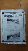 PUBLICITE ANCIENNE - PUB ADVERT 1909 automobiles brasier dos cour batave