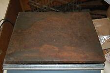 plaque de presse ancienne ou marbre d'etabli? 31,5x25cm occasion